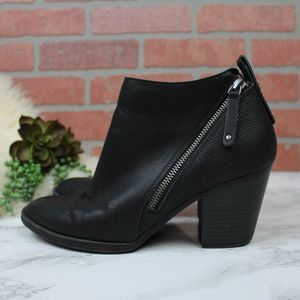 Dolce Vita Black Moto Style Ankle Booties 8.5